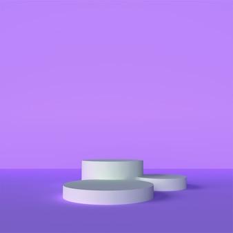 Scène de stand de toile de fond 3d
