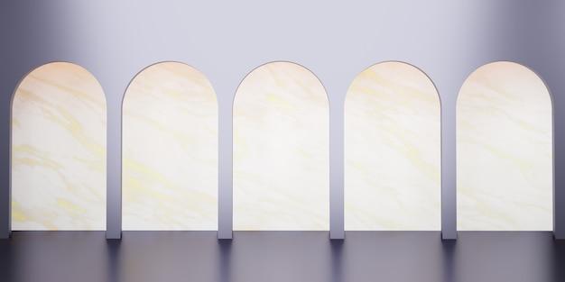Scène de style rétro classique avec illustration 3d du support de produit
