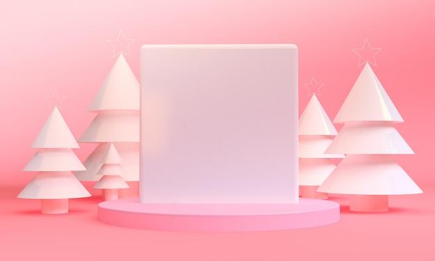 Scène des thèmes de noël géométriques minimalistes