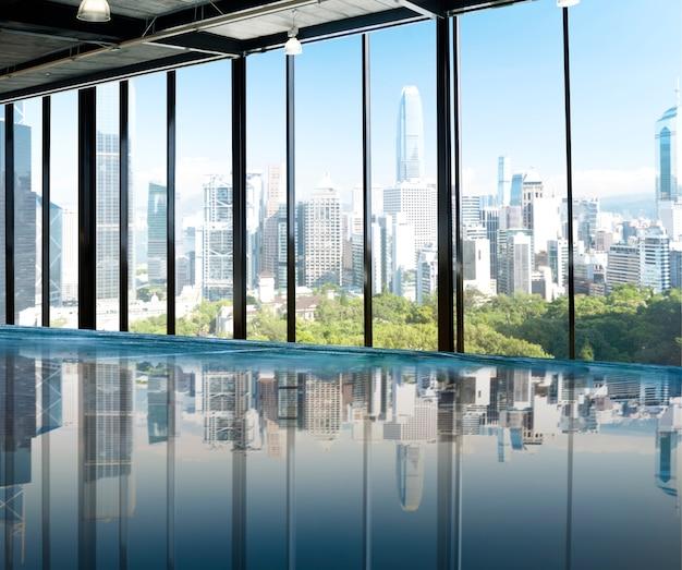 Scène urbaine skyline morning view concept metropolis