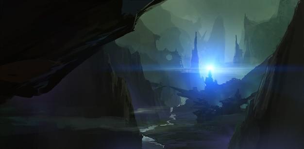 Scènes d'horreur dans le canyon
