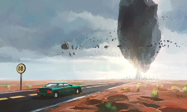 Scènes de science-fiction bizarres.