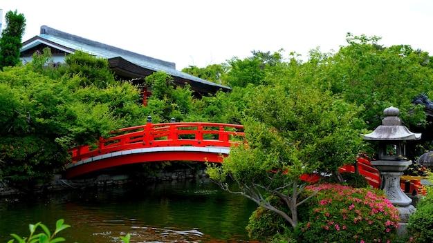 Scenic de sanctuaire à kyoto au japon le bel aménagement paysager japonais