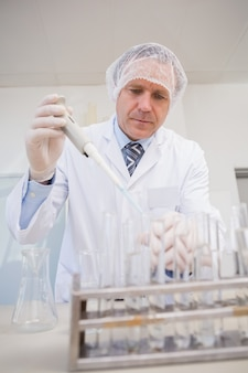 Scientifique faisant des expérimentations dans une boîte de pétri