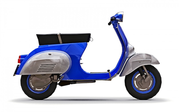 Scooter bleu européen vintage