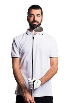 Score de swing de golf de loisir blanc