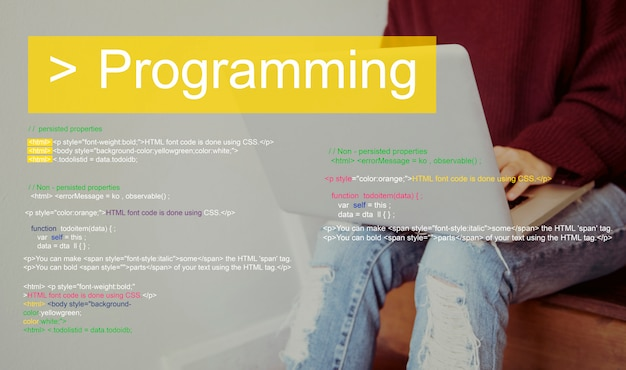 Script de programmation texte codant word