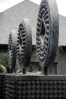 Sculpture circulaire à bali