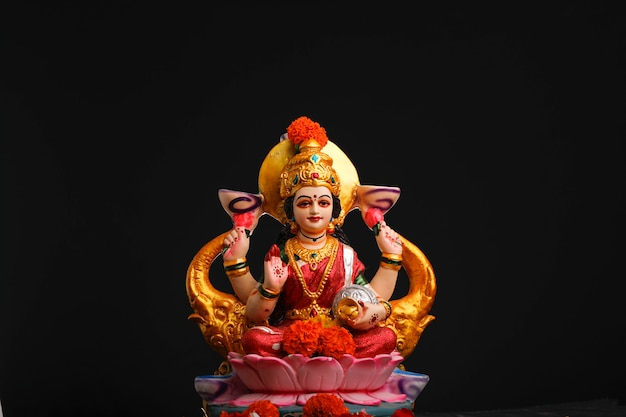 Sculpture de la déesse laxmi
