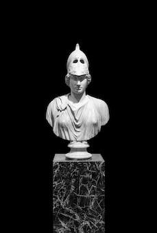 Les sculptures antiques isolent la sculpture classique en marbre de la grèce antique sur un corps d'art de fond blanc ...