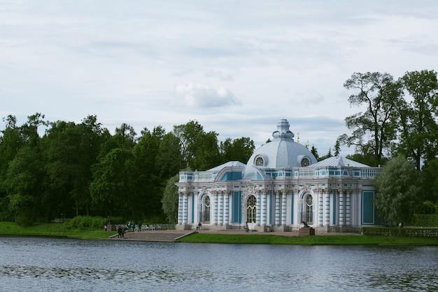 Se garer à tsarskoïe selo. saint-pétersbourg