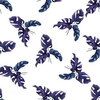 Seamless pattern feuilles de palmiers exotiques.