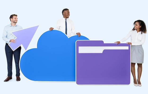 Séance de concept de technologie internet et cloud