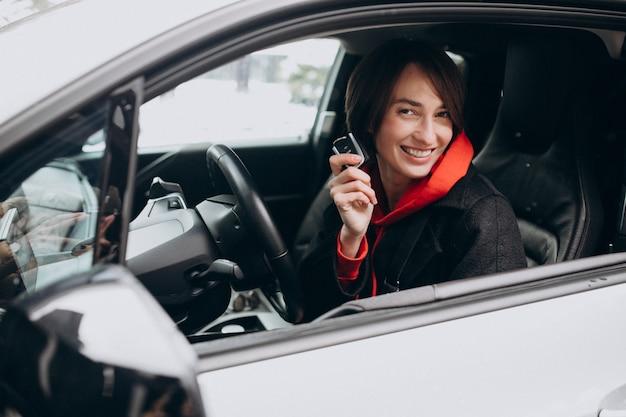Séance femme, intérieur, electro, voiture, quoique, charger