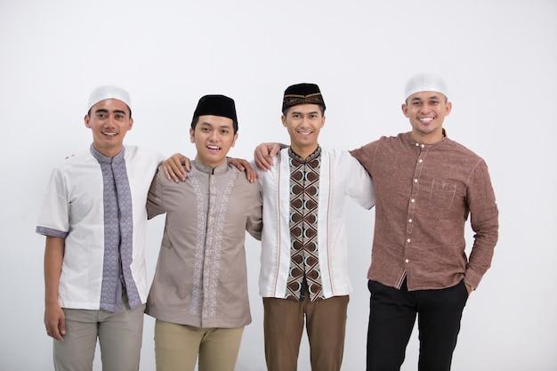 Séance photo de groupe pour hommes