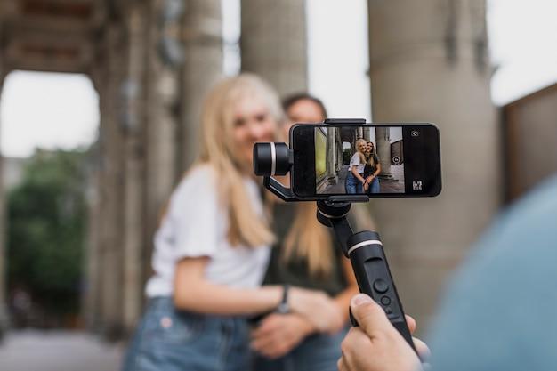 Séance de prise de vue caméra téléphone vue arrière