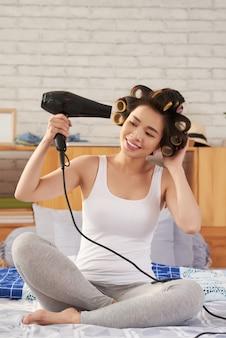 Séchage des cheveux
