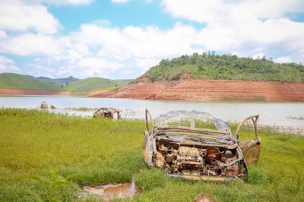 Sécheresse du barrage due au manque de précipitations au brésil