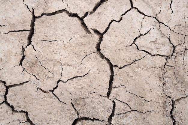 La sécheresse du sol texture fond fissuré natur