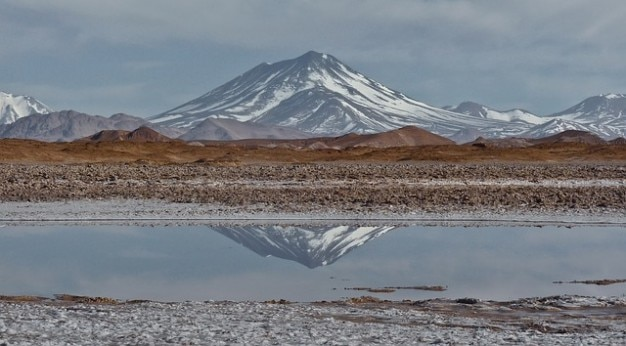Sel aracar stratovolcan des andes plat