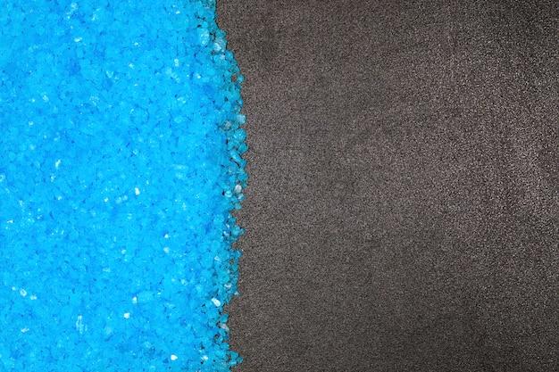 Sel de bain bleu