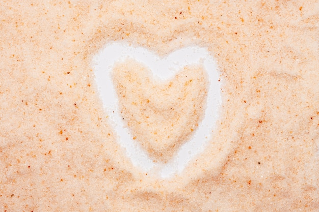 Sel de l'himalaya, en forme de coeur