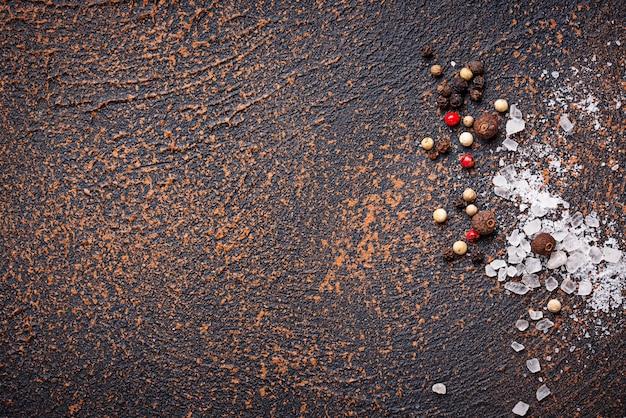 Sel et poivre. fond culinaire