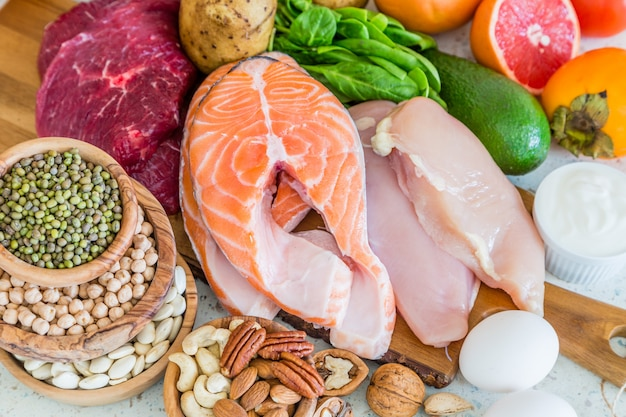Sélection d'aliments pour perdre du poids, cuisine