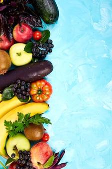 Sélection d'aliments sains et colorés