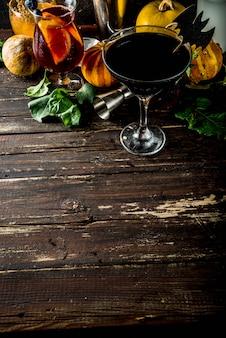 Sélection de cocktails halloween