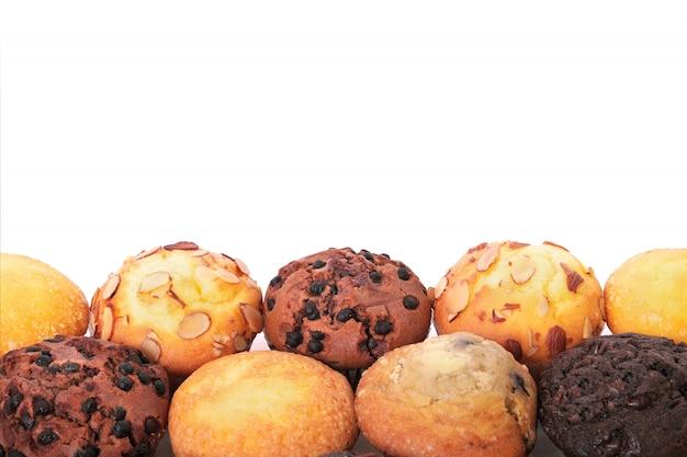 Sélection de différents gâteaux à muffins
