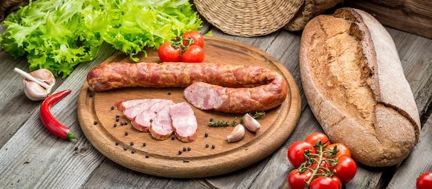 Sélection de différents types de salami