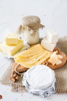 Sélection de lait et de produits laitiers