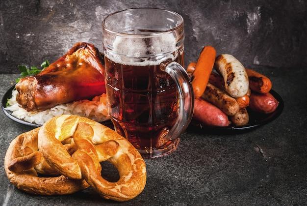 Sélection de plats allemands traditionnels oktober
