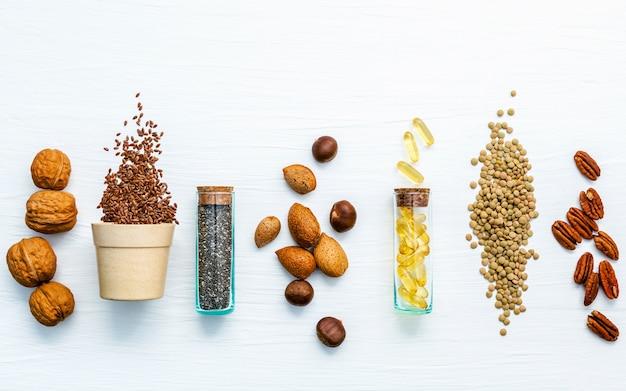 Sélection des sources alimentaires d'oméga 3 et de graisses insaturées.