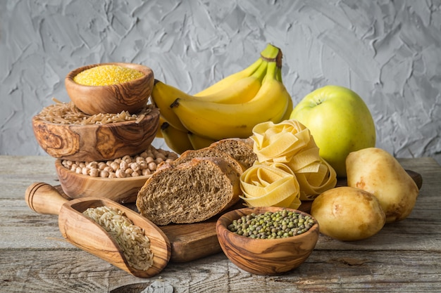 Sélection des sources de glucides comptex sur bois