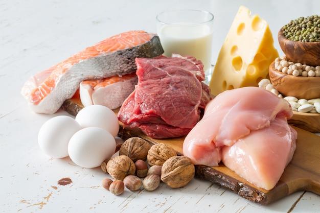 Sélection de sources de protéines en cuisine