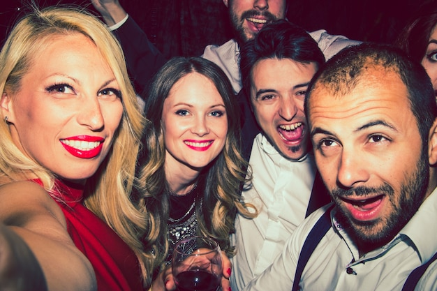 Selfie des amis fous
