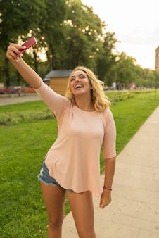 Selfie dans le parc