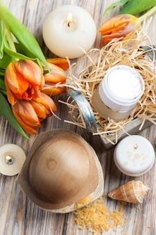 Sels de bain et cosmétiques à l'orange