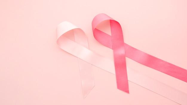 Sensibilisation au cancer du sein avec des rubans