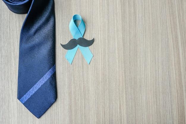 Sensibilisation au cancer de la prostate, ruban bleu clair