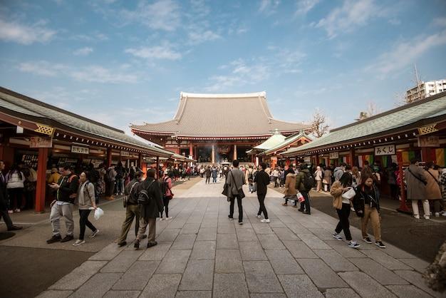 Senso-ji temple, temple célèbre à tokyo, japon.