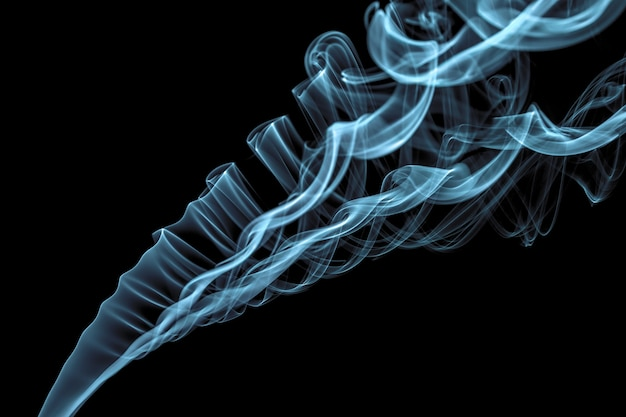Sentier de fumée de bâton d'encens