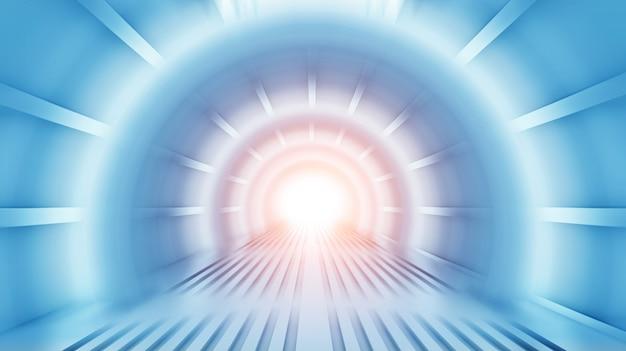Sentier lumineux dans un tunnel