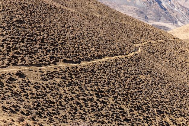 Sentier de montagne dans l'himalaya