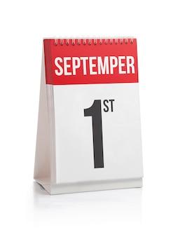 Septembre mois jours calendrier premier jour