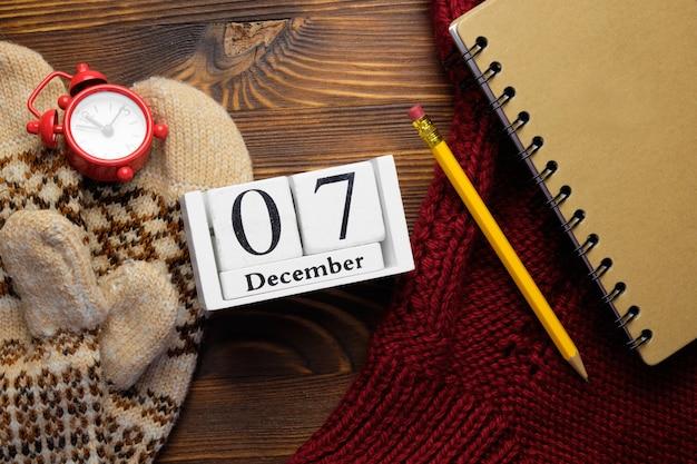 Septième jour du calendrier du mois d'hiver décembre.