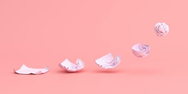 Séquence de papier froissé sur fond.