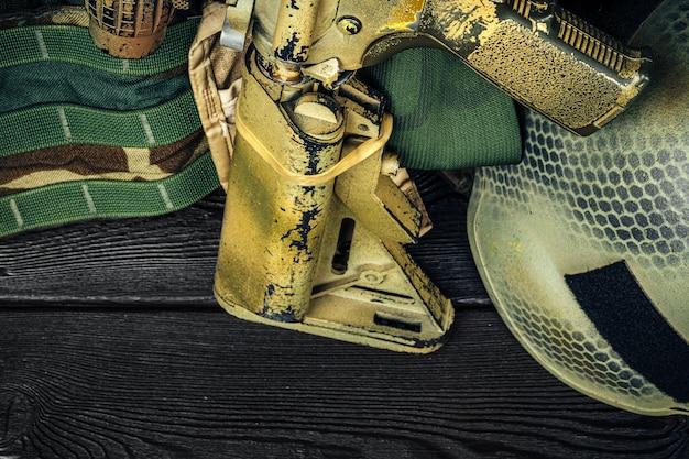 Série d'armes modernes. fusil d'assaut de l'armée américaine, gros plan.